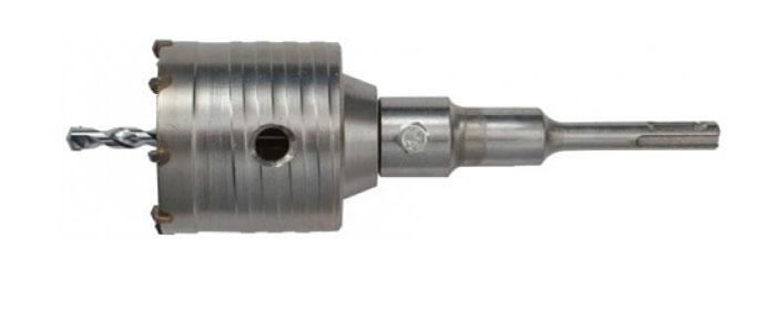 Коронка кольцевая по бетону FIT, цвет: серый, 68 мм33445Кольцевая коронка FIT используется с перфоратором. Предназначена для высверливания отверстий в бетонных, кирпичных и каменных стенах. Выполнена из хром-молибденовой стали, имеет твердосплавные резцы. Все это гарантирует долгосрочную службу инструмента.