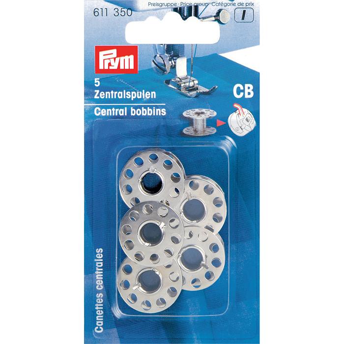 Шпульки Prym, СВ, для шпульного колпачка со штифтом, 5 шт611350Шпульки Prym, изготовленные из металла, предназначены для шпульного колпачка со штифтом.