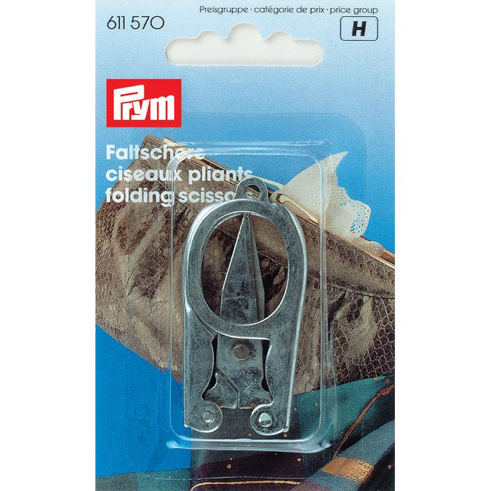 Ножницы складные Prym, 8 см611570Складные ножницы Prym, изготовленные из металла, будут удобны в дороге и безопасны для хранения. Ножницы предназначены для обработки краев изделия и обрезания рабочих ниток.