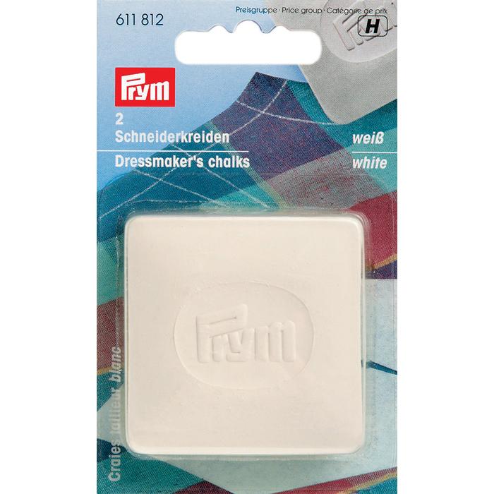 Мел портновский Prym, цвет: белый, 5 х 5 см, 2 шт611812Портновский мел Prym предназначен для работы со всеми типами тканей. Не царапает и не оставляет жирных следов.