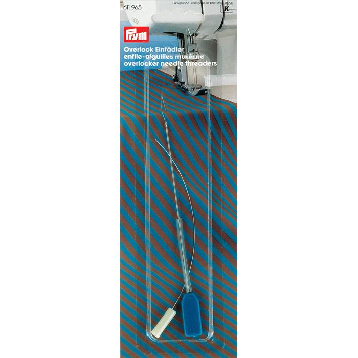 Нитевдеватель Prym, для швейных машин и оверлоков611965Нитевдеватель Prym, изготовленный из металла и пластика, предназначен для швейных машин и оверлоков. Он значительно облегчает вдевание верхней и нижней нити, особенно в оверлоках.