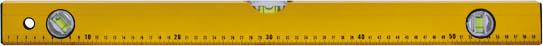 Уровень 3 глазка, 60 см18013Профессиональный строительный уровень Контрфорс используется при необходимости контроля горизонтальных и вертикальных плоскостей. Усиленный, противоударный, алюминиевый корпус уровня облегчает с ним работу. Точность измерений: 0,057°