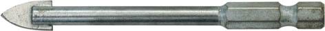 Сверло по кафелю FIT, 8 x 80 мм. 3601836018Сверло FIT используется для сверления отверстий в кафеле, керамике и стекле с помощью электродрели. Оснастка имеет шестигранный хвостовик для надежной фиксации в патроне, а также твердосплавные пластины ВК6 с отшлифованными режущими кромками для эффективной работы. Сверло имеет четыре режущих лезвия. Благодаря специальной проточке хвостовика 1/4 дюйма возможно использование с быстросъёмным адаптером. Рекомендуется охлаждение водой.