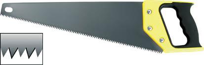 Ножовка по дереву FIT, 500 мм40450Ножовка с эргономичной ручкой, снабженной прорезиненными вставками. Для работы по древесине мягких и твердых пород, ДСП, фанере, и ПВХ. Мелкие зубья (7Т) со специальной 3-х гранной заточкой и высокочастотной закалкой пилят вдоль и поперек волокон, обеспечивая чистоту среза и высокую точность.