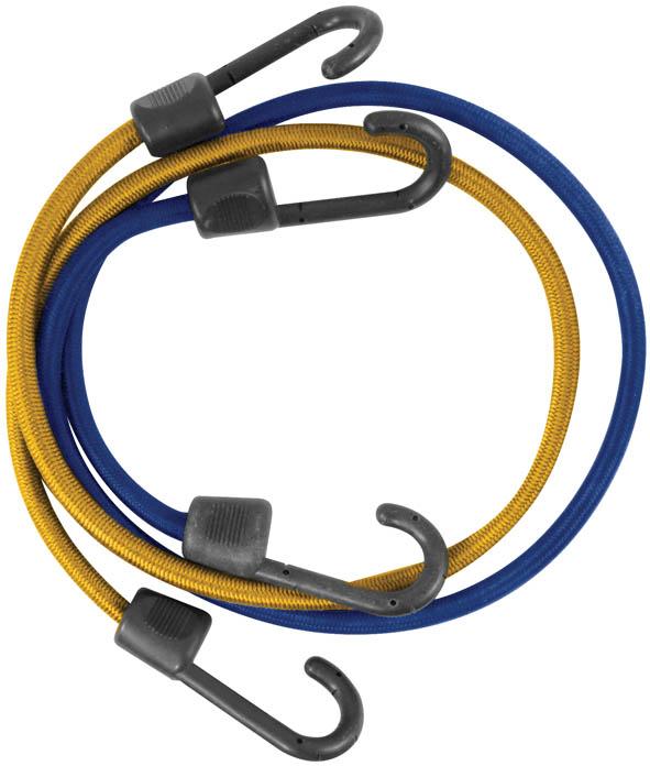 Ремень багажный FIT, 2 шт, 8 мм х 800 мм. 6489664896Багажный ремень FIT используется для фиксации грузов при транспортировке. Выполнен из специального латекса с синтетической оплеткой, которая обеспечивает высокую надежность и долговечность шнура. Крюки изготовлены из прочного пластика. Шнур выдерживает высокие нагрузки. Характеристики: Материал. латекст, пластик. Размер: 8 мм х 800 мм. Размер упаковки: 23 см х 11 см х 4 см.