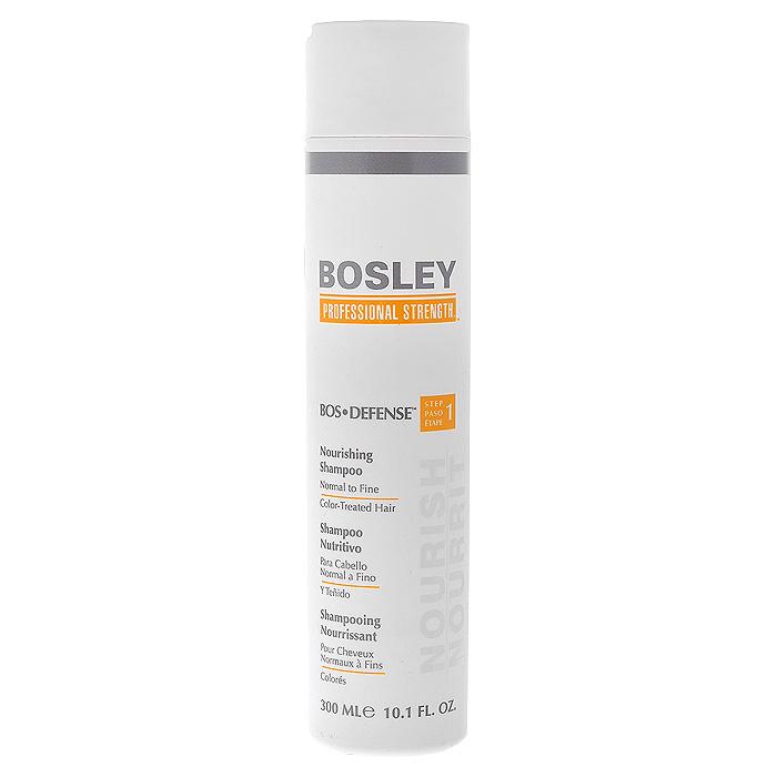Bosley Шампунь питательный, для нормальных, тонких и окрашенных волос, 300 млБЖШ2Нежный, не содержащий сульфаты питательный шампунь Bosley, который помогает создать здоровую среду для волос и кожи головы. Специальные ингредиенты продлевают срок яркости и насыщенности цвета окрашенных волос. Очищает и выводит токсины, такие как ДГТ (основной причиной истончения и выпадения волос) с волос и кожи головы, позволяет продлить долговечность цвета окрашенных волос.