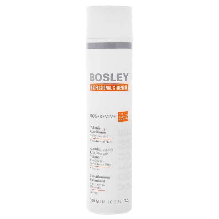 Bosley Кондиционер для объема истонченных и окрашенных волос, 300 млБОК2Кондиционер Bosley для объема предназначен для истонченных окрашенных волос. Не содержит парабенов, увеличивает объем. Экстракт водорослей способствует защите от фотостарения, частого мытья и механических повреждений в результате расчесывания. Содержит LifeXtend комплекс, который помогает стимулировать производство белка кератина в луковице волос и укрепляет всю структуру волоса. С помощью система ColorKeeper кондиционер сохраняет яркость цвета окрашенных волос на более длительный срок.