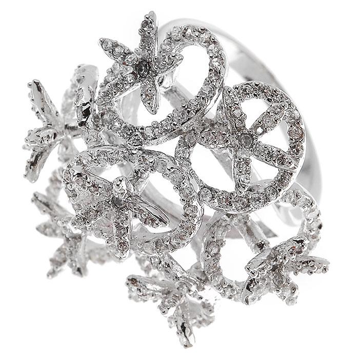 Кольцо Lovely Jewelry, цвет: серебристый. Размер 17. КС1006КС1006 Кольцо Цвет: сереброОригинальное кольцо Lovely Jewelry, выполнено из металла с гальваническим покрытием родием, украшено цирконом. Такое кольцо позволит вам с легкостью воплотить самую смелую фантазию и создать собственный, неповторимый образ. Кольцо упаковано в бархатный мешочек. Характеристики: Материал: металл, циркон. Покрытие: родий. Размер кольца: 17 см. Размер декоративной части: 3 см х 3 см. Артикул: КС1006.