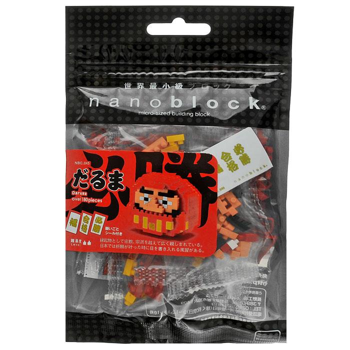 Nanoblock Мини-конструктор Кукла ДарумаNBC_045Мини-конструктор NaNoblock Кукла Дарума включает в себя свыше 180 пластиковых элементов, из которых можно собрать куклу Даруму. Дарума - японская традиционная кукла-неваляшка, олицетворяющая Бодхидхарму, основателя буддийской школы дзэн. В японской мифологии Дарума - божество, приносящее счастье. Интересно, что в Японию Дарумы пришли из Китая, а затем уже как японские сувениры добрались и до России, где стали прообразом русской матрешки, национальной деревянной игрушки, которая впоследствии обогнала по мировой известности свою прародительницу. Интересная особенность Дарумы NaNoblock в том, что как и с настоящей японской дарумой, с ней можно загадывать желание. Делается это весьма интересным способом: при сборке глаз, вы можете загадать желание и поставить в одном из глаз белый квадратик, а не черный как в другом глазе. В таком одноглазом виде кукла должна стоять до тех пор, пока желание не сбудется. В комплект с конструктором входят три наклейки с изображением иероглифов с...