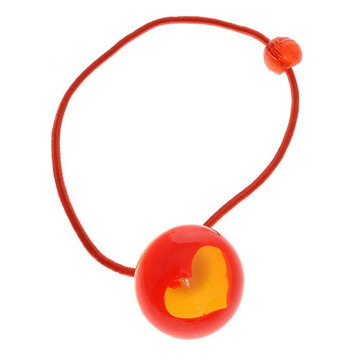 Резинка для волос Fashion House. Сердце, цвет: красный с желтым. FH26012FH26012Резинка для волос Fashion House. Сердце позволит украсить прическу вашей малышки и доставит ей много удовольствия. Резинка украшена круглым декоративным элементом в центре которого изображено желтое блестящее сердечко. Порадуйте свою юную модницу таким великолепным подарком!