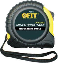 Рулетка FIT, 10 м х 25 мм17310Рулетка FIT - это измерительный инструмент высокой точности. Она является усовершенствованным вариантом складного метра. Рулетка удобна тем, что на конце измерительной ленты имеется специальный порожек, который можно закрепить за край измеряемого предмета. Ширина ленты: 2,5 см.