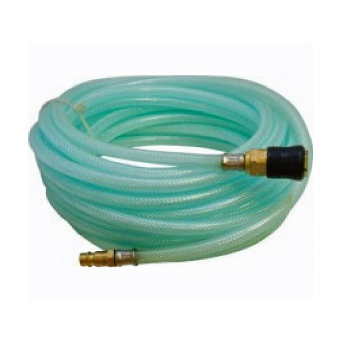 Шланг-удлинитель FIT, 30 м. 8116381167Воздушный шланг FIT служит удлинителем между компрессором и рабочим инструментом. Изготовлен из армированного ПВХ, что делает его более гибким и прочным, в отличие от пластикового. Достаточная длина шланга позволяет осуществлять работы на нужном расстоянии от компрессора. Устойчив к изломам, разрывам и перекручиванию. Имеет коннектор универсального типа.