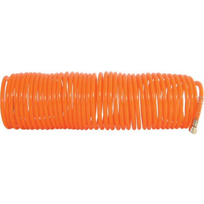 Шланг-удлинитель FIT, 15 м. 8110581105Витой шланг-удлинитель FIT применяется для подачи воздуха к пневматическому инструменту. Изготовлен из полиуретана, отличается прочностью и удобством эксплуатации. Имеет коннектор с типом соединения байонет. Спиральное исполнение предотвращает перегибы и увеличивает удобство при использовании и хранении.