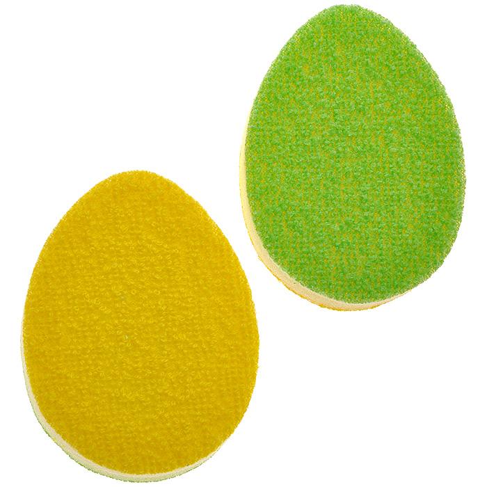 Набор губок Marna, цвет: желтый, зеленый, 2 штK017Набор Marna состоит из двух губок желтого и зеленого цветов. Мягкие, гибкие губки, позволяющие эффективно промывать посуду даже в самых труднодоступных местах. Эффективно и бережно отмывают чайные пятна в заварочных чайниках, не оставляя следов и не царапая поверхность. Маленький размер позволяет легко отмыть небольшие чашки и заварочные чайники. Легко вспениваются, экономно расходуют чистящие средства. Отмывают пятна даже в холодной воде. Характеристики: Материал: полиуретан. Цвет: желтый, зеленый. Размер губки: 9,5 см х 7 см х 1,5 см. Размер упаковки: 11 см х 17 см х 2 см. Артикул: K017.