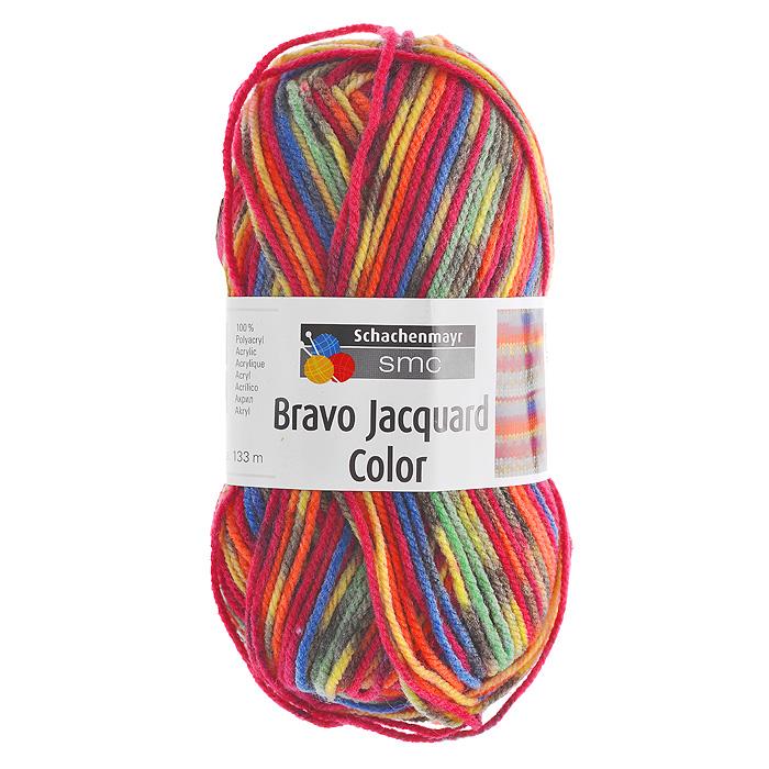 Пряжа для вязания Bravo Color, цвет: розовый, желтый, зеленый (02085), 133 м, 50 г9801421-02085Пряжа для вязания Bravo Color, изготовленная из полиакрила, имеет разноцветные нити розово-желтых оттенков. Цвета плавно переходят один в другой, что очень удобно при вязании жаккардовым узором. Эластичные полиакриловые волокна повышают прочность и износостойкость нити. Изделия из такой пряжи получаются очень теплыми, за ними легко ухаживать и можно стирать в машине. Кроме того, пряжа из полиакрила обладает гипоаллергенными свойствами. Подходит для вязания на крючках и спицах №3-4.