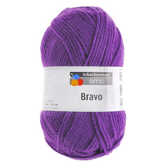 Пряжа для вязания Bravo, цвет: фиолетовый (08303), 133 м, 50 г9801211-08303Пряжа для вязания Bravo, изготовленная из 100% полиакрила, очень мягкая и уютная. Эластичные полиакриловые волокна повышают прочность и износостойкость нити. Изделия получаются очень теплыми, за ними легко ухаживать и можно стирать в машине. Кроме того, пряжа из полиакрила обладает гипоаллергенными свойствами. Подходит для вязания на крючках и спицах №3-4.