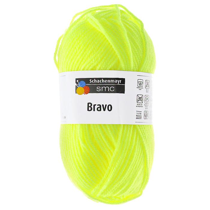 Пряжа для вязания Bravo, цвет: неоновый желтый (08232), 133 м, 50 г9801211-08232Пряжа для вязания Bravo яркой неоновой расцветки изготовлена из 100% полиакрила. Эластичные полиакриловые волокна повышают прочность и износостойкость нити. Изделия получаются очень теплыми, за ними легко ухаживать и можно стирать в машине. Кроме того, пряжа из полиакрила обладает гипоаллергенными свойствами. Подходит для вязания на крючках и спицах №3-4.