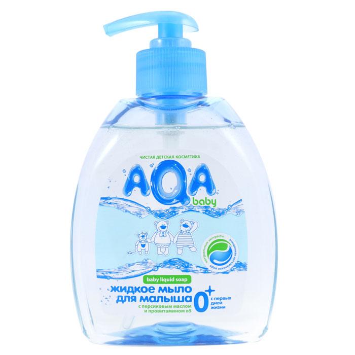 Жидкое мыло для малыша Mann & Schroeder AQA baby, 300 мл009351Жидкое мыло Mann & Schroeder AQA baby разработано для ежедневного очищения кожи малыша с самого рождения. Оно обеспечивает длительную защиту от бактерий и не вызывает раздражения. Ценное масло персика и специально подобранный комплекс растительных экстрактов ромашки, календулы и лаванды мягко очищает нежную кожу крохи, не вызывая сухости и шелушения, а провитамин В5 питает ее. Мыло не содержит красителей и обладает приятным нежным ароматом. Экономичный флакон с дозатором удобен в использовании.