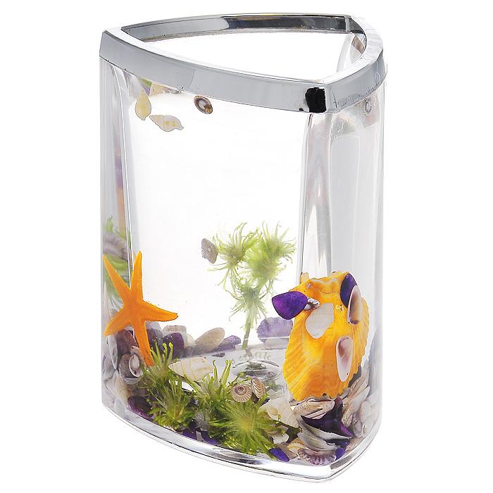 Стаканчик Violet857-46Стаканчик Violet, изготовленный из прозрачного пластика, отлично подойдет для вашей ванной комнаты. Стаканчик имеет двойные стенки, между которыми находится прозрачный гелевый наполнитель с разноцветными ракушками, морской звездой и веточкой. Стаканчик Violet создаст особую атмосферу уюта и максимального комфорта в ванной.