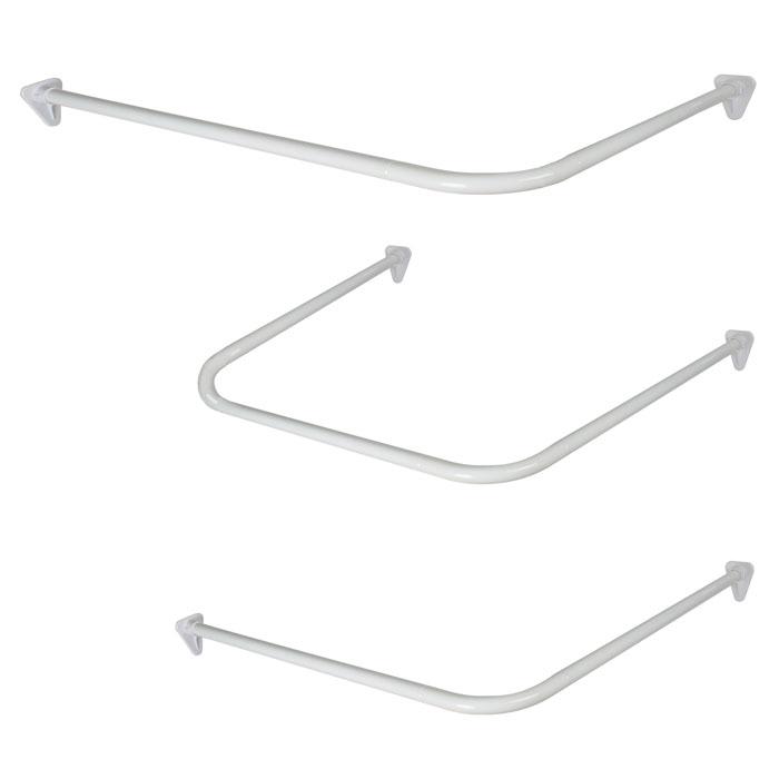 Карниз универсальный Duschy, 90-180 см, цвет: белый673-10Карниз универсальный Duschy используется для закрепления на нем занавески. Длина и угол карниза регулируется: 90 см х 90 см, 90 см х 180 см и U-образный 90 см х 90 см х 90 см. Сама конструкция и крепления защищены от коррозии. Комплектация: - 3 прямые трубки длиной по 77 см, - 2 угловые трубки, длина по окружности 25 см, - 2 основания, для крепления на стену, - 4 соединительные втулки.