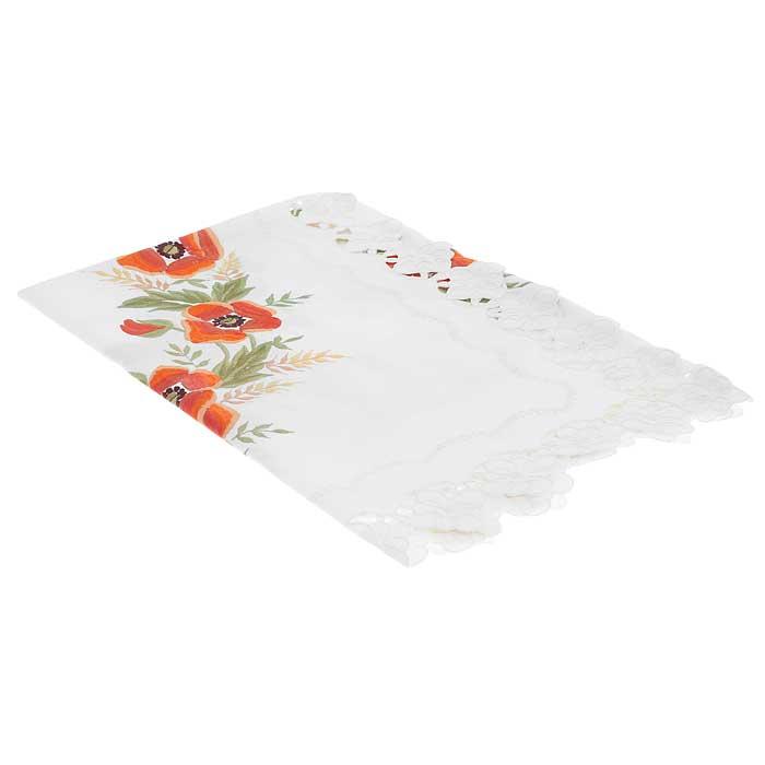 Скатерть Schaefer, квадратная, цвет: белый, 85 x 85 см. 05525-10005525-100Квадратная скатерть Schaefer выполнена из полиэстера белого цвета с вышитыми шелковой нитью классическими и всеми любимыми красными маками. По краю скатерти вышитые фестоны. Изделия из полиэстера легко стирать: они не мнутся, не садятся и быстро сохнут, они более долговечны, чем изделия из натуральных волокон. Использование такой скатерти сделает застолье более торжественным, поднимет настроение гостей и приятно удивит их вашим изысканным вкусом. Также вы можете использовать эту скатерть для повседневной трапезы, превратив каждый прием пищи в волшебный праздник и веселье. Характеристики: Материал: 100% полиэстер. Размер скатерти: 85 см х 85 см. Цвет: белый. Артикул: 05525-100. Немецкая компания Schaefer создана в 1921 году. На протяжении всего времени существования она создает уникальные коллекции домашнего текстиля для гостиных, спален, кухонь и ванных комнат. Дизайнерские идеи немецких художников компании Schaefer воплощаются в...