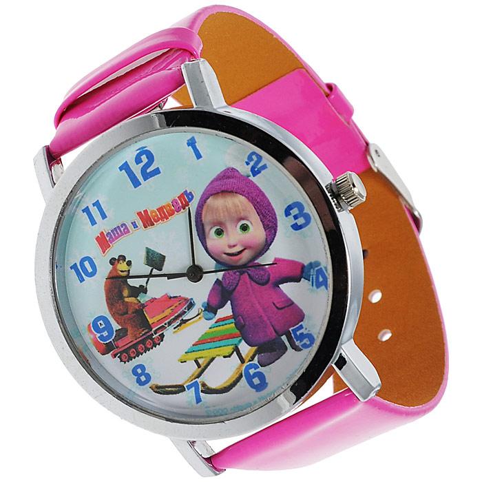 """Часы наручные Маша и медведь """"Санки"""", кварцевые 329372"""