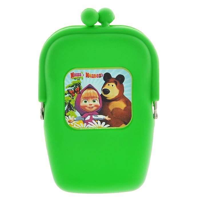Маша и Медведь Косметичка цвет зеленый331044Косметичка Маша и медведь, выполненная из мягкого силикона зеленого цвета, придется по душе вашей маленькой моднице. Косметичка состоит из одного отделения, закрывающегося на защелку. Лицевая сторона косметички оформлена изображением Маши и мишки - любимых героев популярного мультсериала Маша и медведь. В такой косметичке будет удобно хранить косметические принадлежности или разные мелочи.