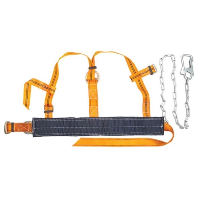 Пояс страховочный ПП-2ГД, цвет: оранжевый, синий