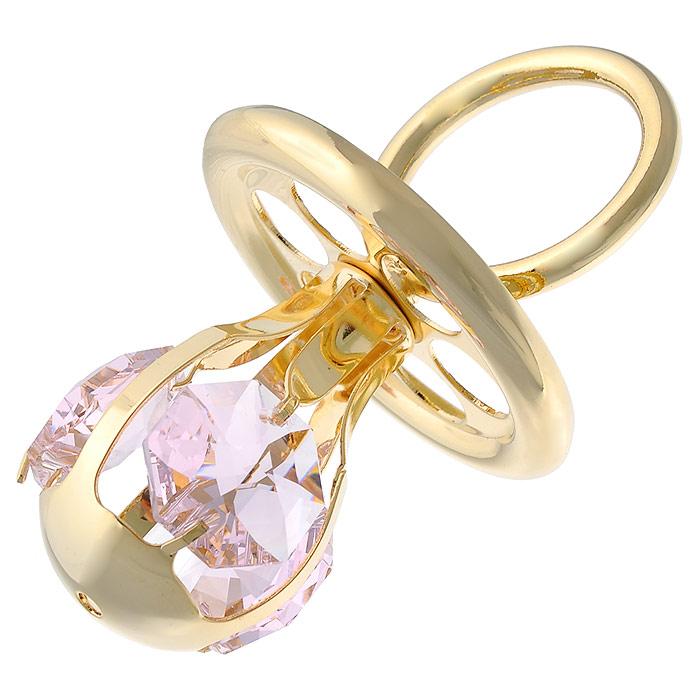 Фигурка декоративная Соска, цвет: розовый, золотистый. 445459445459Декоративная фигурка Соска, выполненная из металла золотистого цвета, станет необычным аксессуаром для вашего интерьера и создаст незабываемую атмосферу. Фигурка выполнена в виде соски и инкрустирована тремя розовыми кристаллами. Кристаллы, украшающие фигурку, носят громкое имя Swarovski. Ограненные, как бриллианты, кристаллы блистают сотнями тысяч различных оттенков. Эта очаровательная вещь послужит отличным подарком близкому человеку, родственнику или другу, а также подарит приятные мгновения и окунет вас в лучшие воспоминания. Фигурка упакована в подарочную коробку.