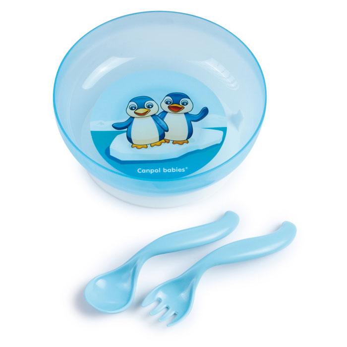 Canpol Babies Набор детской посуды цвет синий 4 предмета
