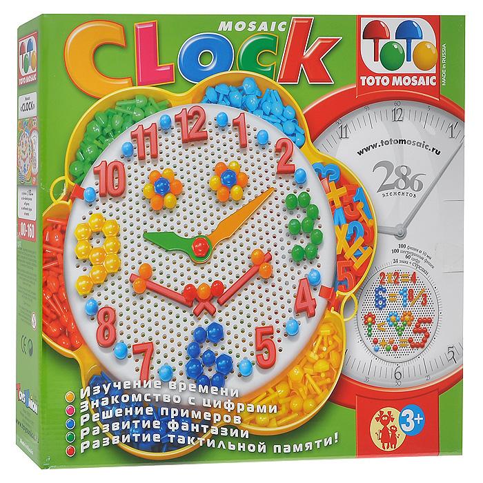 Мозаика Часы, 286 элементов00-160Мозаика Часы - это яркая, увлекательная, развивающая игра. Мозаика включает в себя основу, 200 выпуклых овальных и шестигранных фишек, 60 цифр от 0 до 9, 24 знака и 2 стрелки, при помощи которых ребенок сможет создать необычные часы или различные объемные цветные картинки. Для этого ему нужно лишь соединить разноцветные пластиковые элементы между собой на примере приведенных на коробке картинок или так, как подскажет фантазия. Основа выполнена в виде цветка, в центре которого расположена плата для вкладывания фишек. Лепестки цветка являются емкостями, в которые можно разложить фишки, цифры и знаки для удобства. Игры с мозаикой Часы способствуют развитию у малышей мелкой моторики рук, координации движений, внимательности, логического и абстрактного мышления, ориентировку на плоскости. Кроме того, ребенок познакомится с понятием времени, научится его определять по часам, изучит цифры и сможет решать примеры. Характеристики: Диаметр фишки: 1 см. Высота...