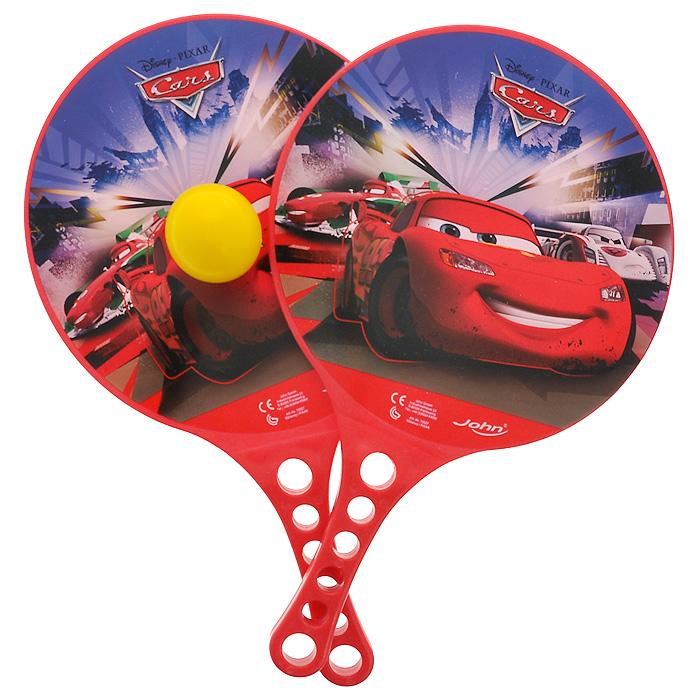 John набор для игры в теннис Тачки72527Набор для игры в теннис Тачки прекрасно подойдет для детей, которые любят весело и активно проводить время на свежем воздухе. В набор входят две ракетки и теннисный мяч. Ракетки выполнены из прочного пластика и оформлены изображением Молнии МакКуина и его соперников по гонке. Спортивные игры развивают ловкость, силу, глазомер и быстроту реакции. Порадуйте своего непоседу таким замечательным подарком!