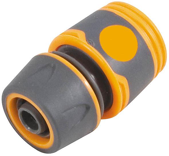 Соединитель для шлангов FIT, 3/477742Соединитель FIT применяется для быстрого и надежного соединения поливочных шлангов 3/4 с любой насадкой поливочной системы. Совместим со всеми элементами аналогичной поливочной системы. Характеристики: Материал: ABS пластик с прорезиненными вставками. Размеры прибора: 6 см х 5 см х 5 см. Размер упаковки: 12 см х 9 см х 4 см.