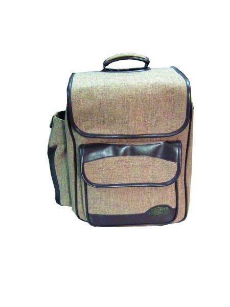 Рюкзак для пикника Rockland HB 2-3468813928RockLand HB 2-346 - это удобный набор на двух человек, в небольшом рюкзаке, где есть все от солонки до салфетки, и вам уже не нужно думать, а взяли ли вы с собой ложку или соль. Удобный и легкий, компактный и практичный набор для пикника. В набор входят: Тарелка - 2 шт. Ложка - 2 шт. Вилка - 2 шт. Нож - по 2 шт. Солонка-перечница - 1 шт. Доска пластиковая - 1 шт. Штопор - 1 шт. Пластиковые бокалы - 2 шт. Нож для мяса - 1 шт. Салфетки - 2 шт. Чехол для бутылки - 1шт.