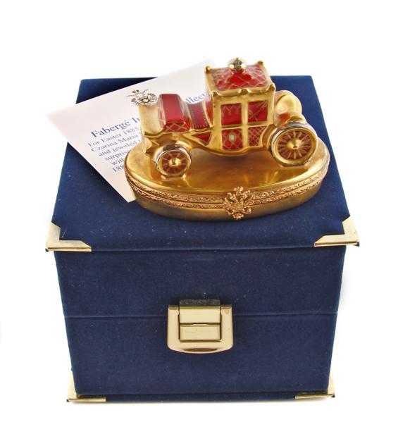 Шкатулка Карета. Фарфор, металл, роспись, House of Faberge. Конец XX века