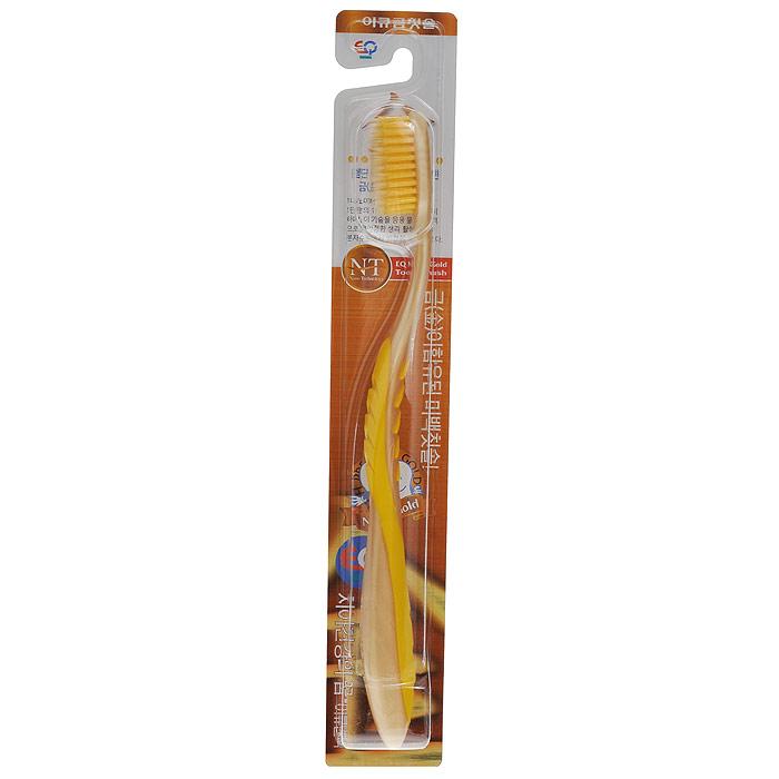 EQ MaxON Зубная щетка, c наночастицами золота, средняя жесткость, цвет в ассортименте