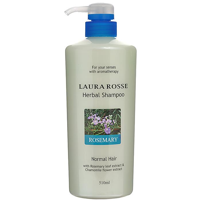 Laura Rosse Растительный шампунь Розмарин, для нормальных волос, 510 мл410773Душистый растительный шампунь Laura Rosse прекрасно очищает волосы, насыщает их влагой, делает мягкими и послушными. Богатый состав средства, включающий растительные и питательные компоненты, поможет восстановить естественную жизненную силу ваших волос. Шампунь содержит экстракты ромашки, розмарина, шалфея, лаванды, а также гидролизированный шелк, который увлажняет, укрепляет и защищает волосы. Подходит для нормальных волос. Обладает приятным ароматом розмарина. Характеристики: Объем: 510 мл. Артикул: 410773. Производитель: Корея. Товар сертифицирован.