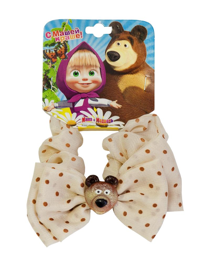 Резинка для волос Маша и медведь 'Миша', цвет: бежевый