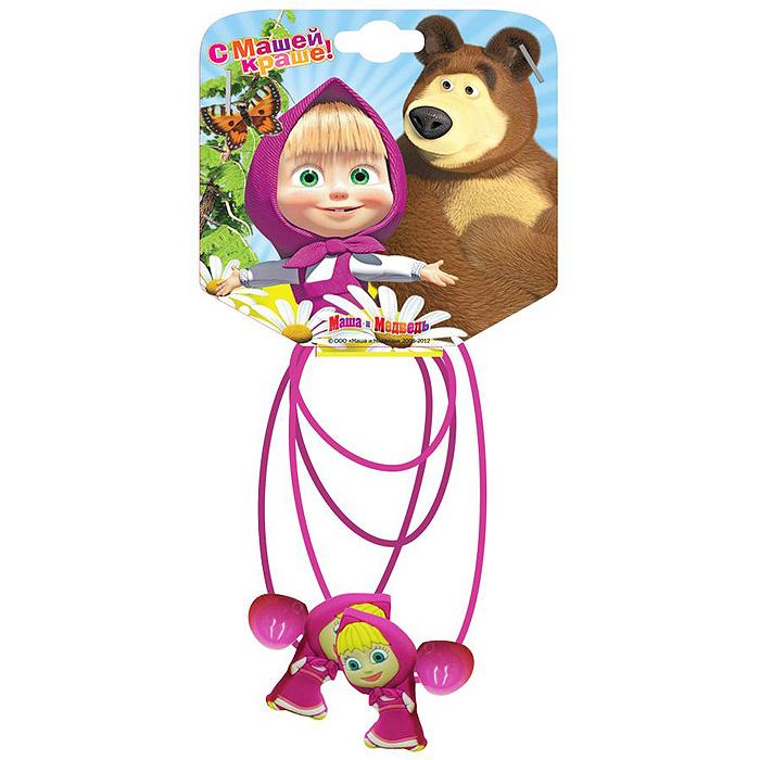 Резинка для волос Маша и медведь Маша, цвет: фиолетовый , 2 шт