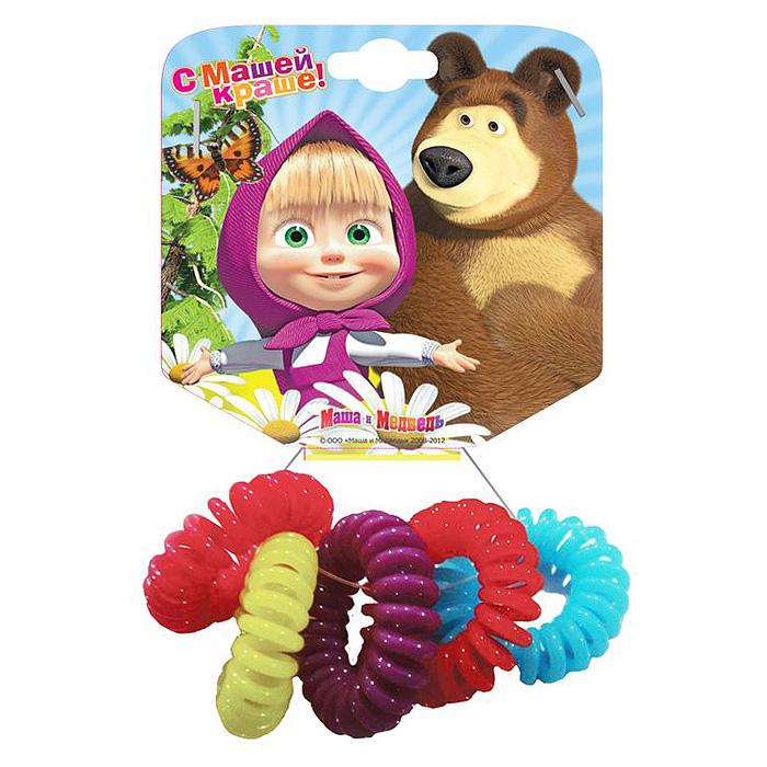 Маша и Медведь Резинка для волос Пружинки в цветовом дизайне 5 шт328484Необычная резинка для волос Маша и медведь Пружинки позволит украсить прическу вашей малышки и доставит ей много удовольствия. Резиночки выполнены из мягкого и гибкого пластика. Комплект включает пять резиночек разных цветов. Порадуйте свою юную модницу таким великолепным подарком!