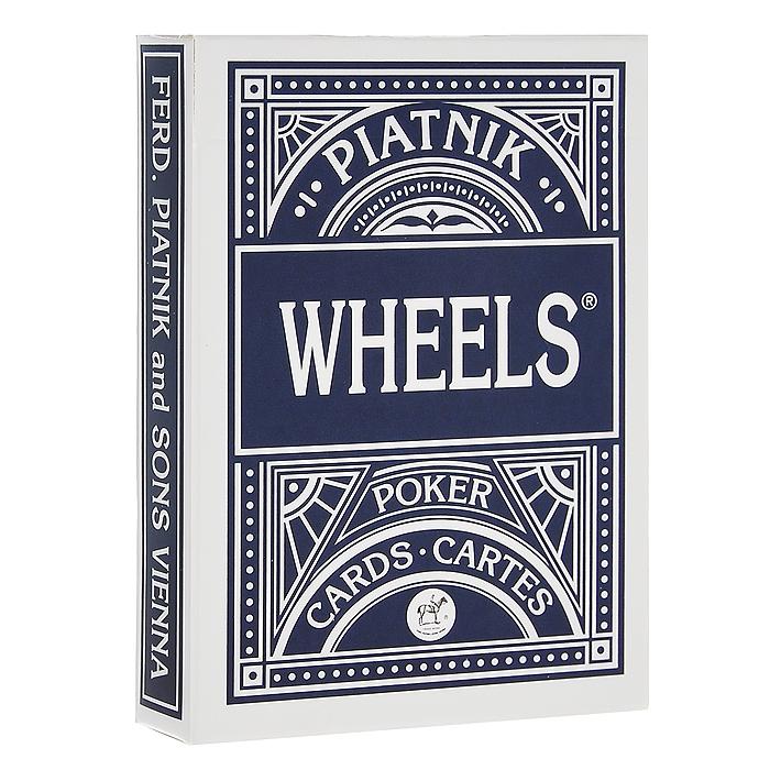 Профессиональные игральные карты Wheels, 55 листов, цвет: синий1391Карты Wheels предназначены для игры в покер и другие карточные игры. Карты имеют очень гладкую поверхность, покрытие из пластика и стандартный размер.