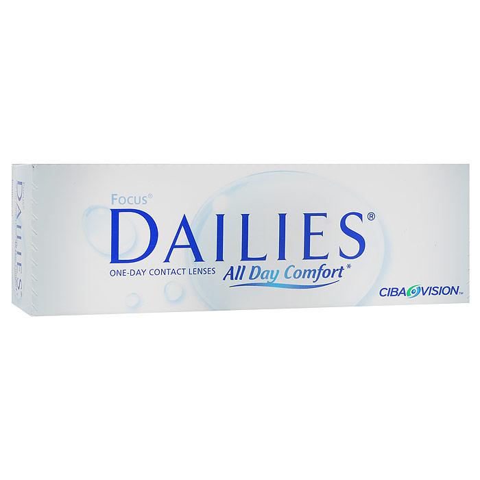 CIBA контактные линзы Focus Dailies All Day Comfort (30шт / 8.6 / -5.75)00049Focus Dailies All Day Comfort - это однодневные контактные линзы от всемирно известного производителя Ciba Vision. Эти линзы не нуждаются в уходе и не требуют дополнительных расходов. Контактные линзы обладают идеальной точностью и подходят более чем 90% людей, нуждающихся в коррекции зрения. Focus Dailies All Day Comfort изготавливаются из нейлонового материала нелфилкон А. Этот современный и безопасный материал дарит вам ощущение полного комфорта на весь день. Для большего удобства в обращении линзы имеют слабую тонировку. Неоспоримым достоинством Focus Dailies All Day Comfort является запатентованная технология компании Ciba Vision - Aqua Comfort. Внутри линзы содержится увлажняющий агент, который выделяется при моргании. Это позволяет вашим глазам оставаться увлажненными в течение всего срока ношения. Focus Dailies All Day Comfort изготавливаются совершенно новым методом Light Technology, благодаря чему линзы получаются сверхтонкими с идеально ровными краями....