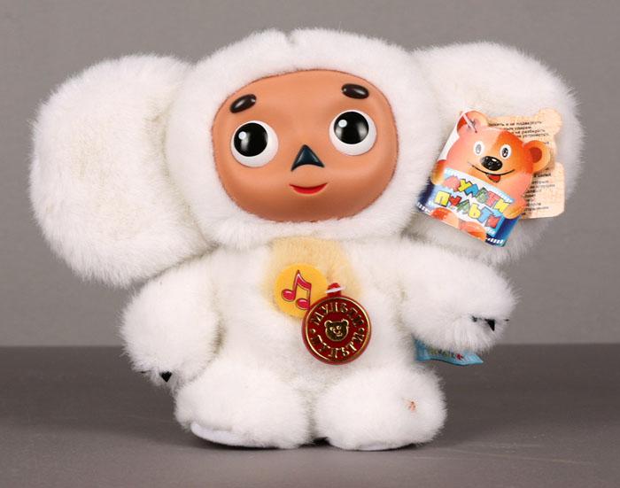 Мягкая говорящая игрушка Чебурашка, цвет: белый, 17 см113363Мягкая говорящая игрушка Чебурашка белого цвета станет вашему малышу хорошим другом и порадует его разными фразами и песенкой из любимого мультфильма. Мордочка Чебурашки выполнена из пластика. Мультфильмы - важная составляющая детства. Среди игрушек серии Мульти-пульти ваш малыш сможет найти любимых героев из добрых мультфильмов, играя с которыми ребенок сможет развить смекалку, остроумие и фантазию. Игрушки серии Мульти-пульти оснащены уникальными электронно-звуковыми устройствами, поэтому ваш малыш всегда сможет прослушать любимые фразы и песенки из уст самих мультгероев.