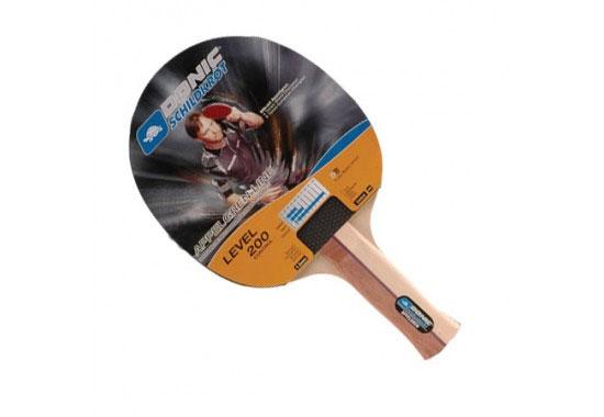 Ракетка для настольного тенниса Donic-Schildkrot Appelgren 200703009Ракетка Donic-Schildkrot Appelgren 200 предназначена для игры в настольный теннис для любителей и игроков начального уровня. Ракетка выполнена из дерева, накладка из резины. Имеет пятислойное основание.