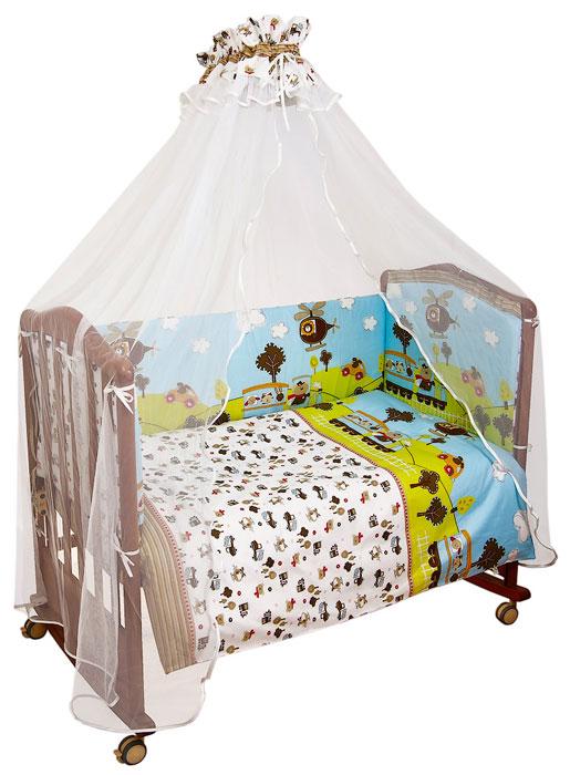 Бампер в кроватку Каникулы, цвет: голубой, бежевый108Бампер в кроватку Каникулы состоит из четырех частей и закрывает весь периметр кроватки. Бортик крепится к кроватке с помощью специальных завязок, благодаря чему его можно поместить в любую детскую кроватку. Бампер выполнен из бязи - натурального хлопка безупречной выделки. Деликатные швы рассчитаны на прикосновение к нежной коже ребенка. Бампер оформлен авторским рисунком с изображениями машинок, паровозиков и вертолетов. Наполнителем служит холлкон - эластичный синтетический материал, экологически безопасный и гипоаллергенный, обладающий высокими теплозащитными свойствами. Чехлы на молнии легко снимаются для стирки. Бампер защитит ребенка от возможных ударов о деревянные или металлические части кроватки. Бортик подходит для кроватки размером 120 см х 60 см. Характеристики: Материал верха: бязь, 100% хлопок. Наполнитель: холлкон плотностью 500. Общая длина бампера: 360 см. Высота бортика: 42 см. Размер...
