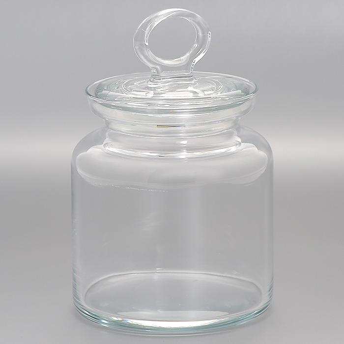 Банка для хранения Kitchen, 0,9 л98671Банка Kitchen, выполненная из высококачественного стекла, станет незаменимым помощником на кухне. В ней будет удобно хранить разнообразные сыпучие продукты, такие как кофе, крупы, макароны или специи, а также она подойдет для хранения варенья, меда и различных жидкостей. Емкость легко закрывается стеклянной крышкой. Характеристики: Материал: стекло. Диаметр банки: 10 см. Высота банки (без учета крышки): 13 см. Размер упаковки (Д х Ш х В): 12 см х 12 см 16 см. Объем банки: 0,9 л. Производитель: Турция. Артикул: 98671.