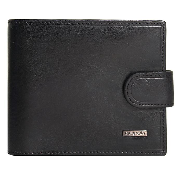 Портмоне Malgrado, цвет: черный. 35023-5-7801D35023-5-7801D Black Портмоне MalgradoУниверсальное портмоне Malgrado изготовлено из натуральной кожи черного цвета. Внутри содержит два отделения для купюр, одно из которых на молнии, десять дополнительных кармашков для кредитных карт и мелочей, кармашек для мелочи на кнопке, пластиковый кармашек для проездного, пропуска или фотографии. Закрывается портмоне хлястиком на кнопке. Благодаря насыщенному черному цвету и лаконичному дизайну, такое портмоне подойдет любителям классических аксессуаров. Характеристики: Материал: натуральная кожа, пластик. Размер портмоне: 11 см х 9 см х 2,5 см. Цвет: черный. Размер упаковки: 13 см х 10 см х 3,5 см. Артикул: 35023-5-7801D.