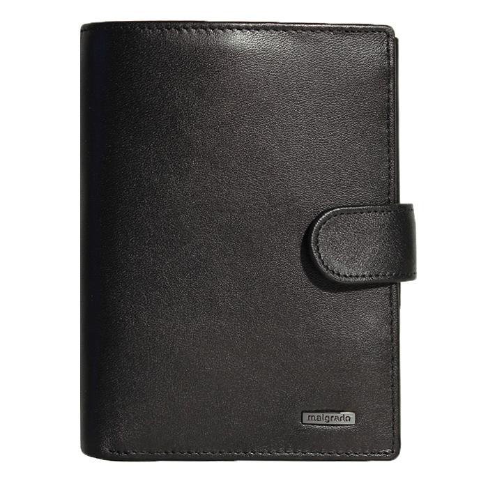 Портмоне Malgrado, цвет: черный. 54006-3-55D54006-3-55DУниверсальное портмоне для документов Malgrado изготовлено из натуральной кожи черного цвета. Внутри содержит отдел для комплекта автодокументов, отдел для купюр. Имеет пятнадцать отделений для визиток, кредиток и карточек, пластиковый карман для проездного, пропуска или фотографии. Закрывается портмоне хлястиком на кнопке. Такое портмоне станет замечательным подарком человеку, ценящему качественные и практичные вещи.