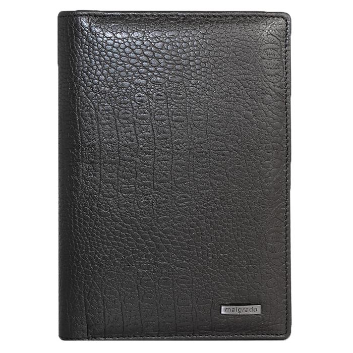 Обложка для паспорта Malgrado, цвет: черный. 54019-1-8201D54019-1-8201DСтильная обложка для паспорта Malgrado изготовлена из натуральной кожи черного цвета с декоративным тиснением. Внутри содержит прозрачное пластиковое окно, съемный прозрачный вкладыш для полного комплекта автодокументов, пять отделений для кредитных и дисконтных карт. Обложка упакована в подарочную картонную коробку с логотипом фирмы. Такая обложка станет замечательным подарком человеку, ценящему качественные и практичные вещи.