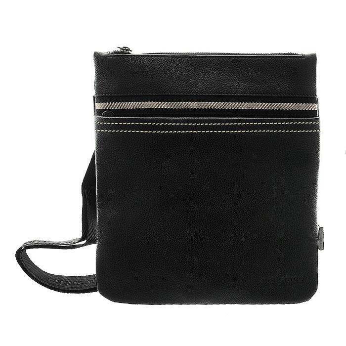 Сумка мужская Malgrado, цвет: черный. BR09-300A2714BR09-300A2714 black сумка мужская MalgradoМужская сумка Malgrado, выполнена из натуральной кожи, оформлена контрастной строчкой. Основное отделение закрывается железной молнией, в основном отделе кожаные кармашки для ручек и мобильного телефона и карман на молнии. Спереди удобный карман, закрывающийся на пластмассовую молнию, сзади карман на магнитной кнопке. Модель снабжена плечевым ремнем.